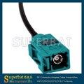 """Superbat Nuevo Fakra Jack Hembra """"Z"""" código de Radio Antena de Extensión Pigtail Cable RG174 20 cm"""
