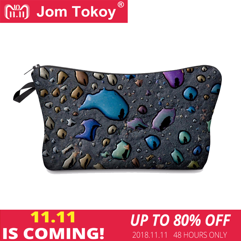 Jom Tokoy 3D Printing Makeup Bags Multicolor Pattern Cute Cosmetics Pouchs For Travel Ladies Pouch Women Cosmetic Bag jom tokoy 3d printing unicorn makeup bags multicolor pattern cute women cosmetic bag