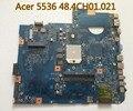 Placa madre del ordenador portátil para acer 5536 5536g placa madre mbp4201003 mbp4201003 48.4ch01.021 100% probado