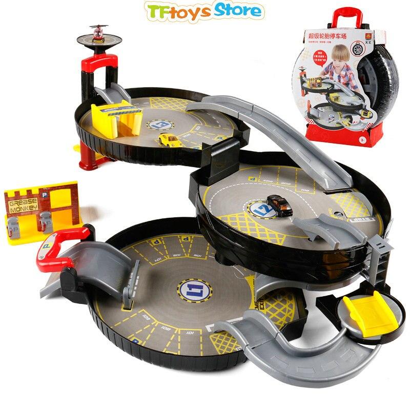 3 Levels Car Garage Play Set Parking Toys Model Building ...