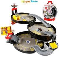 3 Levels Car Garage Play Set Parking Toys Model Building Kits Assembled Track Kids Educational Toys Parking Portable Tire Toys