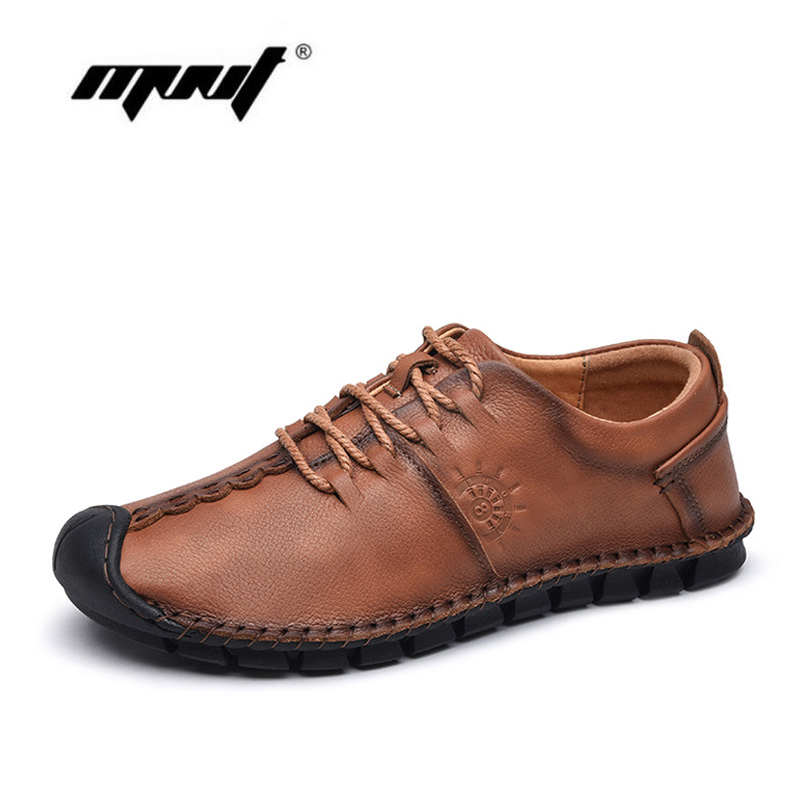 Handmade Genuine Leather Men Shoes Comfortable Casual Shoes High Quality Outdoor Flats Shoes Men top brand high quality genuine leather casual men shoes cow suede comfortable loafers soft breathable shoes men flats warm