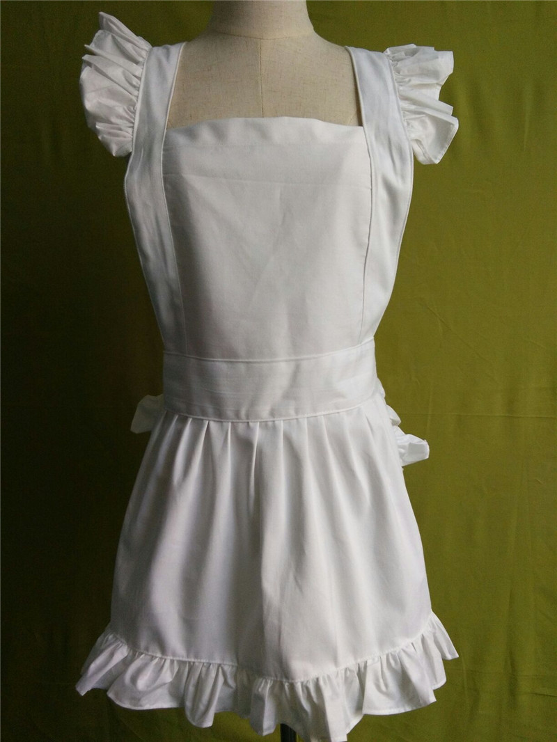 White waist apron ruffle -  Avental
