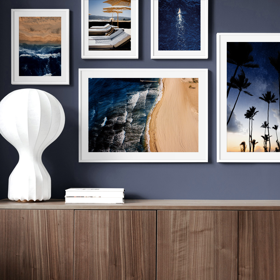 Coconut Tree Beach Sea Surf House Nordic Posters And Prints Wall Art Canvas Painting Fashion Wall Pictures For Living Room Decor in Painting Calligraphy from Home Garden