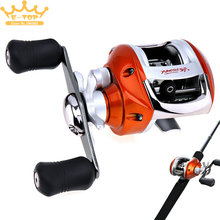 Magnetic Brake Right Left Hand Optional 12+1BB 6.3:1 Gear Ratio Stainless Steel Fishing Baitcasting Reel