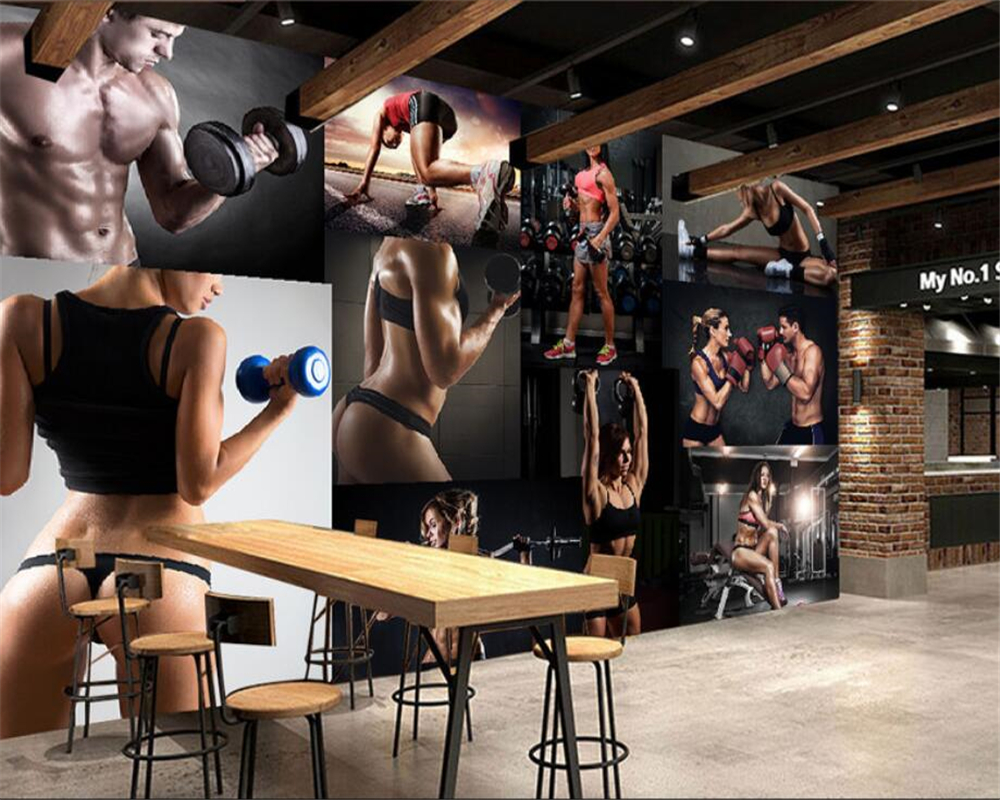 Beibehang Custom Wallpaper Ultra-high-definition Fitness Beauty Photo Wall 3d Wallpaper Living Room Restaurant Cafe Home Decor