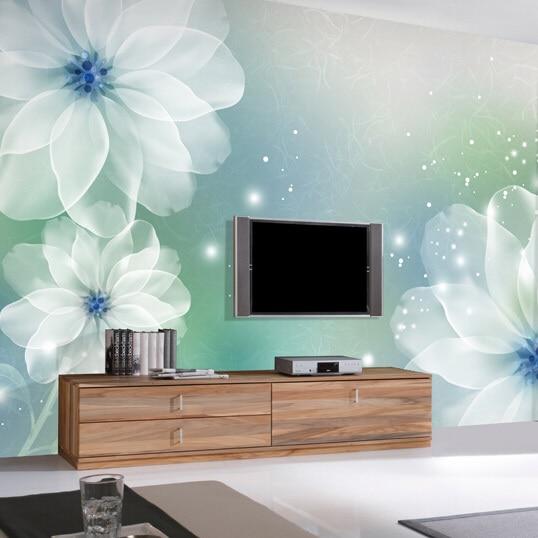 dreamy flower 3d room wallpaper for girls room or living room tv background wonderful effect 4