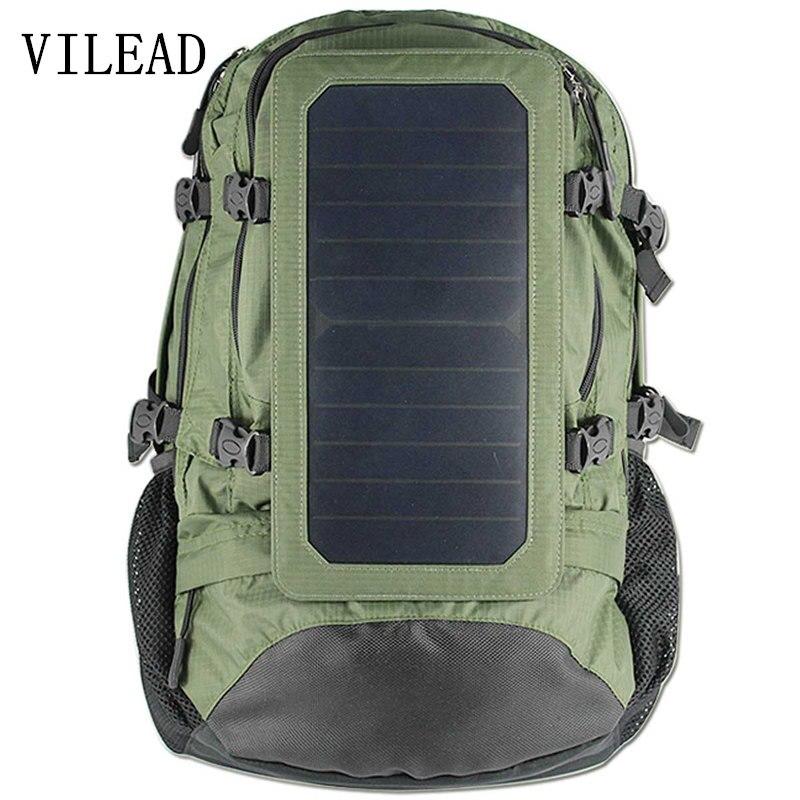 Vilead 55*36*23 см солнечной энергии 6.5 Вт рюкзак большой Ёмкость энергосберегающие охране окружающей среды солнечный мощность Зарядное устройст...
