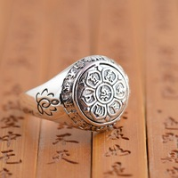 Deer King jewelry silver ring S925 Sterling Silver six Buddhist mantra antique polishing process explosion models