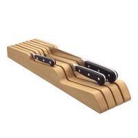 High quality wood knife tray kitchen articles wood knife seat set receive beech wooden knife holder blocks