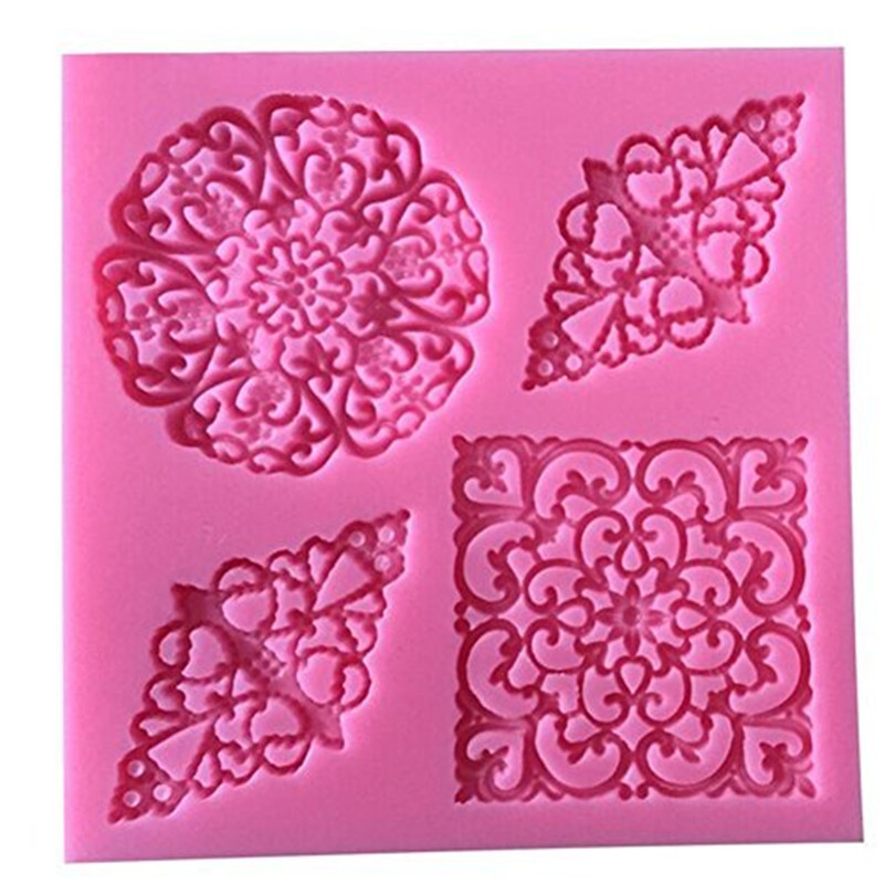 Flower Lace DIY Chocolate Soap Mould Fondant Silicone Mold Decor Tools  IT
