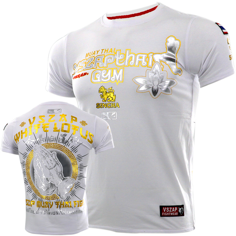 New VSZAP Fight MUAY THAI MUAY THAI Combat Short Sleeve T-shirt Broadcasting Wulinfeng Fitness Training Clothes