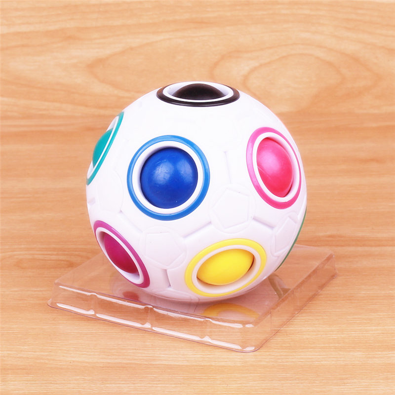 Hot Spherical Magic Ball Cube Toys Novelty Rainbow Ball Football Puzzle Cubes Learning & Educational Toys For Children Kids