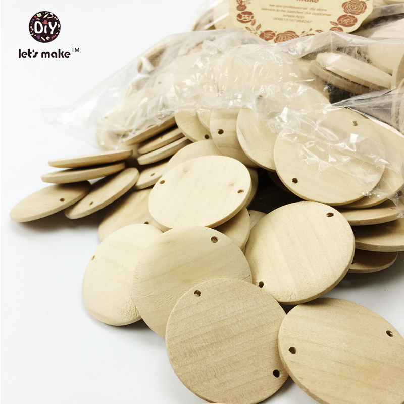 Us 1618 15 Offlets Make Wood Circle Wooden Discs Round Jewelry Beads Unfinished Eco Friendly Untreated Wood Slice 39mm Diy Beads In Beads From