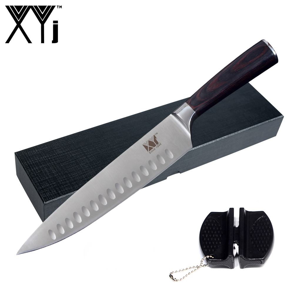 XYj 3 Pcs Kitchen Knife Set Stainless Steel Sharp Blade Comfortable ...