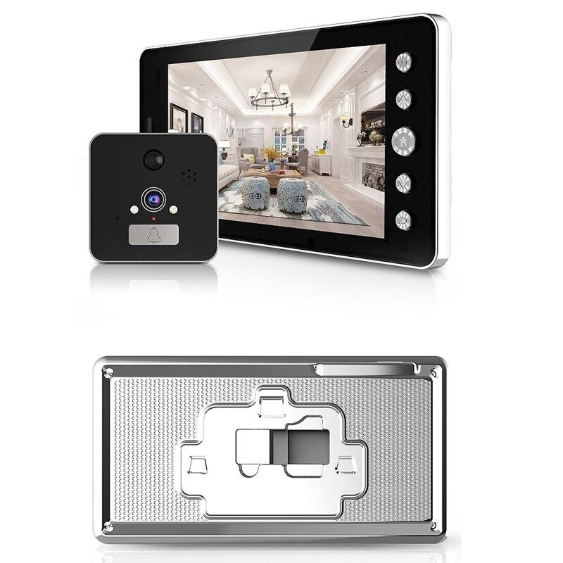 Image 5 - 5 インチ画面ワイヤレスドアベル Ip カメラ 5000Mah 160 度のぞきアプリで制御暗視 Pir モーションセンサー    グループ上の セキュリティ