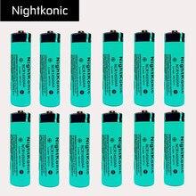 Original Nightkonic 12 pcs/lot 14500  Rechargeable Battery 3.7v Li-ion