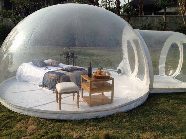 Durable Thick 0.8MM PVC Inflatable Bubble Tent House Dome Outdoor Clear Show Room With 1 : outdoor bubble tent - memphite.com