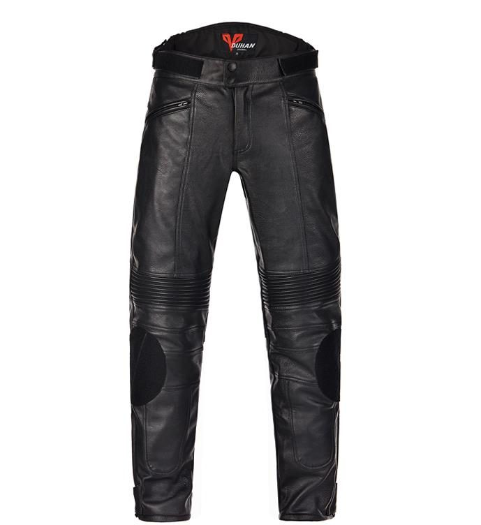 Men/'s Long Pants Black Waterproof PU leather Pants Motorcycle Overall Trousers