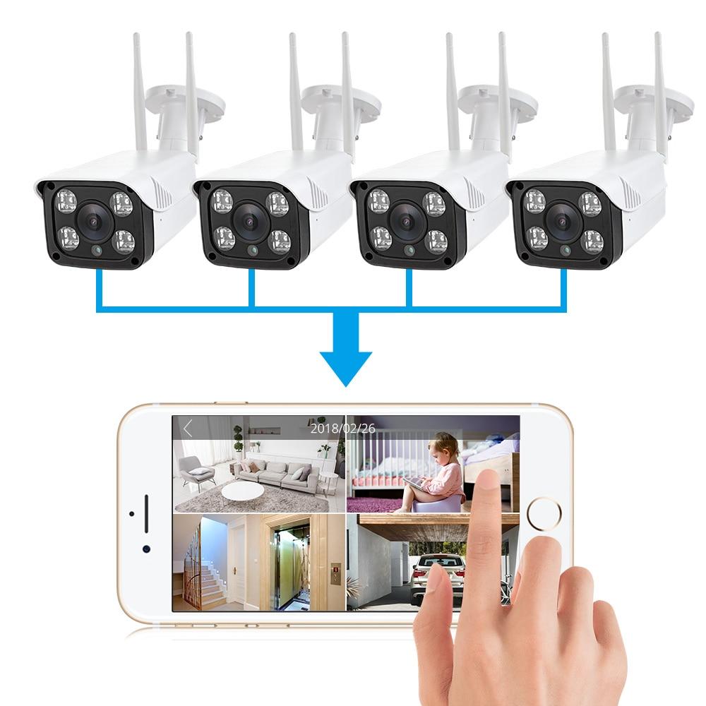4 In 1 APP 1080P 2.0MP Cloud Storage Outdoor IP66 Waterproof WIFI IP Camera Night Vision CCTV Security Home Security Camera