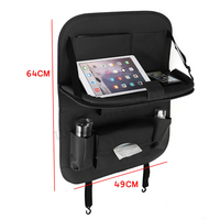 Portable Storage Bag Car Portable Storage Bags Car Seat Back Multi Use Car Organizers Black Car Organizer For IPad Phone Holder