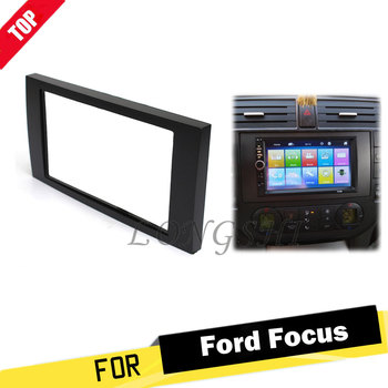 For Ford Focus 2 Din frame to Car Radio for C-Max S-Max Fusion Transit Fiesta use car Multimedia radio player Double din Fascia image