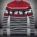 2017 новый мужской круглый воротник, свитер необходимо Рождественский олень свитер Пуловер мужской о-образным вырезом onta свитер рождество свитер