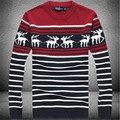2017 new men's round collar, sweater necessary Christmas deer sweater Pullover men's o-neck onta sweater christmas sweater
