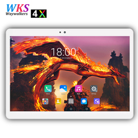 O envio gratuito de 10 polegada 4G LTE tablet pc 10 núcleo Android 7.0 RAM 4 GB ROM 64 GB wifi Bluetooth 2.5D tela 1920*1200 IPS tablets pcs