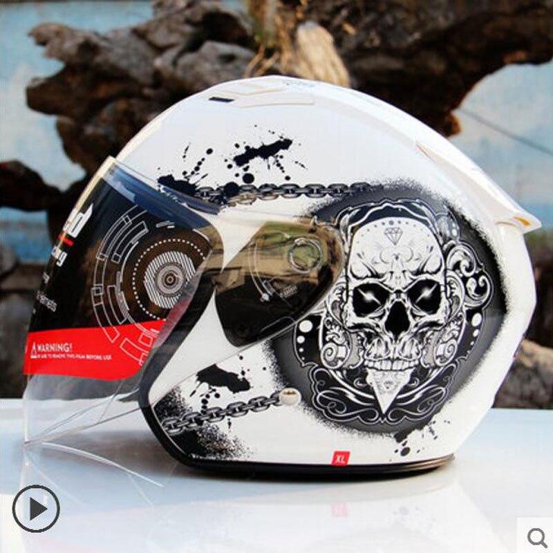 2018 Spring New Germany Tanked Racing Motorcycle Helmet T536 Half Face Motorbike Helmets Made of ABS PC Lens Visor M L XL XXL