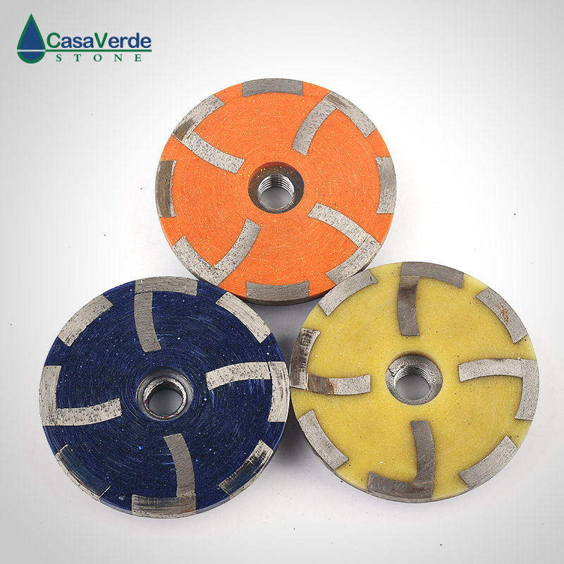 Free shipping 3pcs 4 inch diamond filling resin grinding cup wheels coarse# medium# fine# M14 or 5/8-11 thread for stone z lion 4 diamond cup wheel grit 30 silent core turbo cup grinding aluminum base abrasive tool for concrete granite thread m14