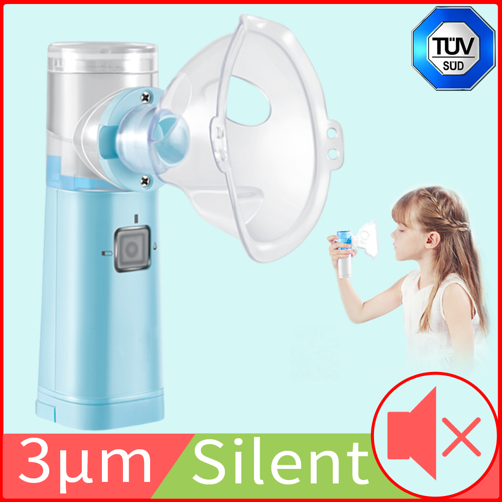 3μm Nebulizer Handheld Inhaler Nebulizer Ultrasonic Portable Household Mini Nebulizer For Adult Children Asthma Medical Grade