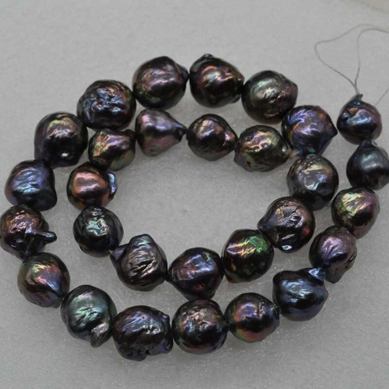 Commercio all'ingrosso 1 strand 12 16mm nero reale d'acqua dolce della perla-in Perline da Gioielli e accessori su  Gruppo 3