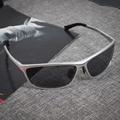 Gafas de sol de los hombres polarizadas Магния и Алюминия Поляризованный 45 мм spiegel wrap Maleoculos де грау masculino Вождения Рыба