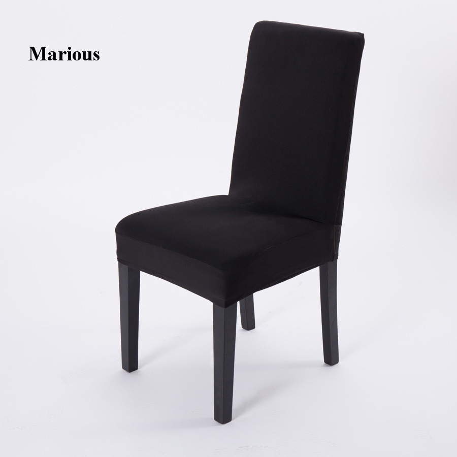 black solid color polyester spandex dining chair /chair ...