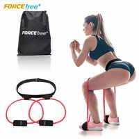 Forcefree + Booty bandes de résistance bout à bout système d'exercice de pédale Fitness ceinture en caoutchouc-ascenseur femmes fessier & bas du corps Muscles forme