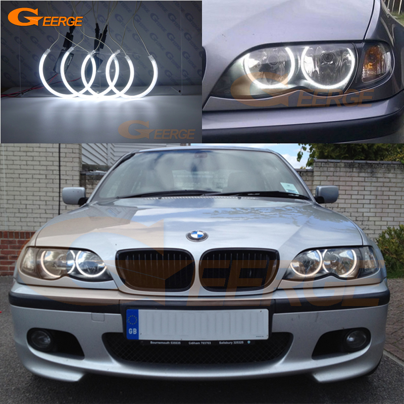 For BMW 3 Serie E46 Sedan facelift 2001 2005 Halogen headlight Excellent Ultra bright illumination CCFL
