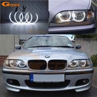 For BMW 3 Serie E46 Sedan facelift 2001 2005 Halogen headlight Excellent Ultra bright illumination CCFL Angel Eyes kit