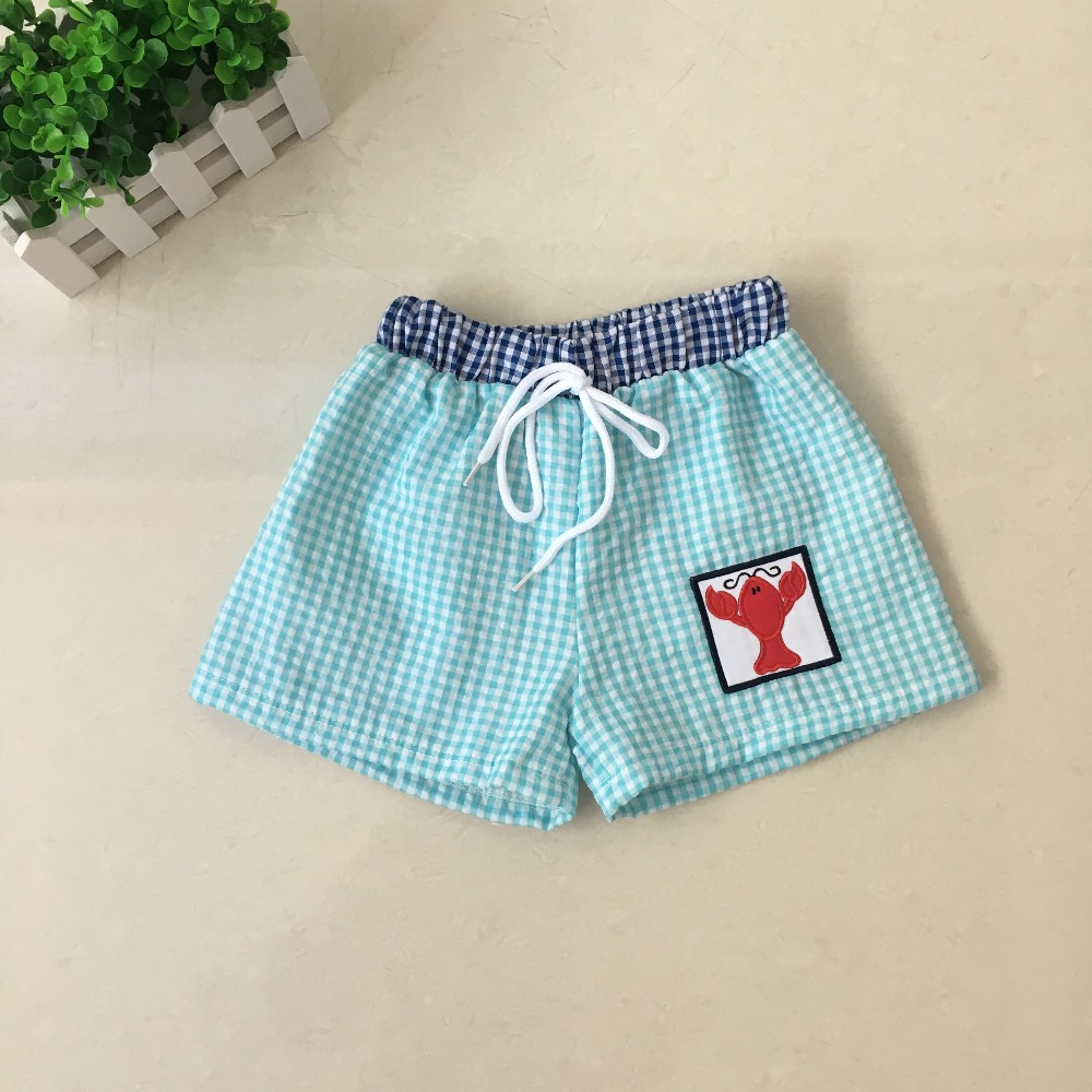 Puresun New Arrival Fashion Design swimming   Shorts   Baby Girls High Quality Lobster Applique Wholesale Toddler Sport   Shorts