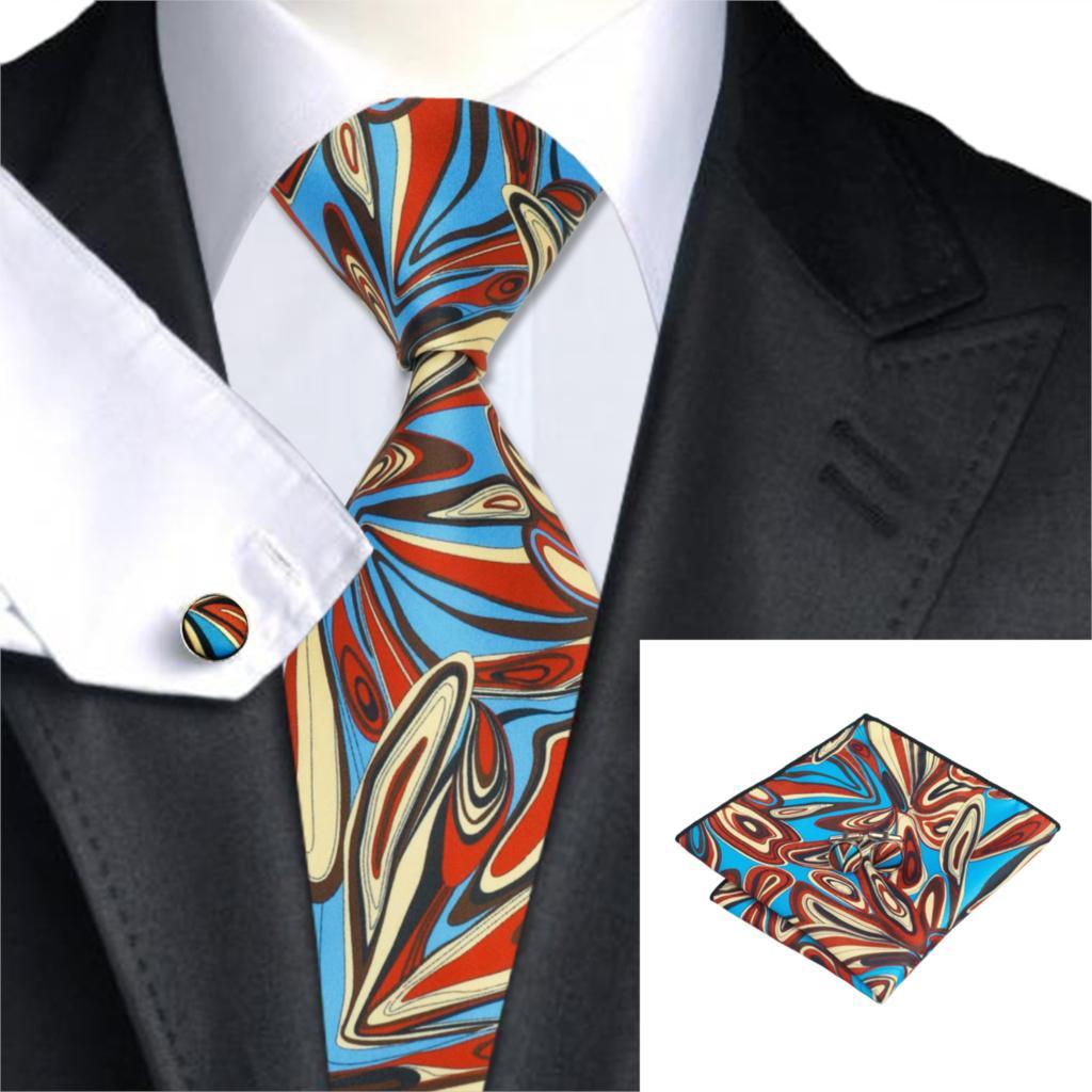 C-1275 Druck Setzt Neuheit Mens Ties Krawatten Taschentuch Manschettenknöpfe New Fashion Floral Krawatten Für Männer Anzüge SorgfäLtige FäRbeprozesse