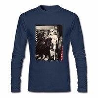 Star Wars Stormtrooper Chewbacca Berber Dükkanı Fotoğraf Uzun Kollu Erkek Tee gömlek Hip Hop Mens Için Üst Tees Ekip Boyun Beyaz T gömlek