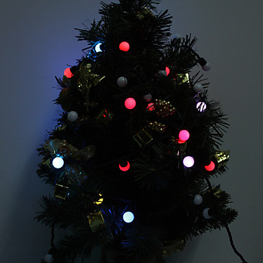 High Bright 220V 5M LED ball Light ChainsLED twinkle light LED flashlight for Christmas holiday wedding party