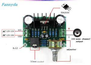 Image 4 - XH M551 モノラルチャンネルアンプボード、 TDA2030A オーディオアンプボード、 18 ワットアンプボード DC/AC12V