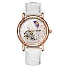 kobiet zegarka luxury women Watch automatic mechanical high end Leather watches female fashion hollow waterproof Dress clock