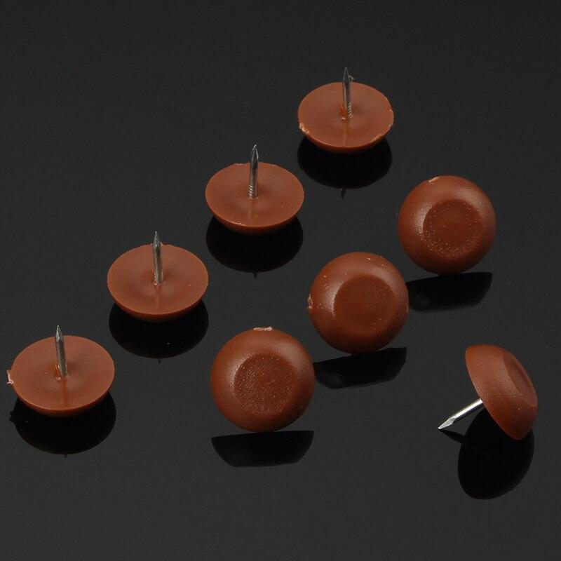 10 stks Wit/Bruin Nylon Meubels Sofa Stoel Tafel Kast Voeten Been Floor Protector Anti Slip Glide Skid Geen-noise Nail