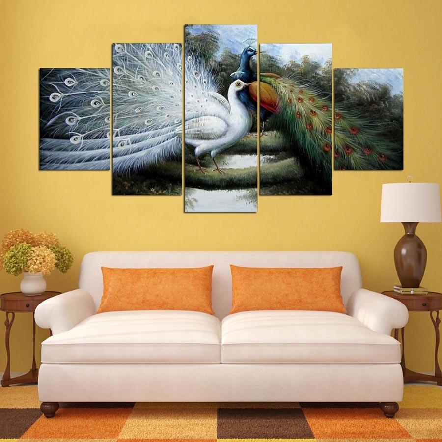 Modular Imagens Hd Impresso Quadro Sala De Estar Moderna Arte  -> Quadro De Parede Para Sala Abstrato