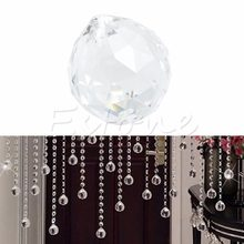Clear Crystal Lamp Ball Hanging Prism Suncatcher Wedding Decor 20mm 1 pcs(China)