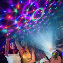 Mini LED Stage Light Magic Effect Rotating Laser Lighting Lamp Multicolor Disco Ball For Bar Home Party Decoration стоимость