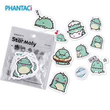 40 pcs/pack Cute Kawaii Little Green Dragon from Star Moly Stickers PVC Diary Sticker Scrapbooking Decoration Stationery Sticker(China)