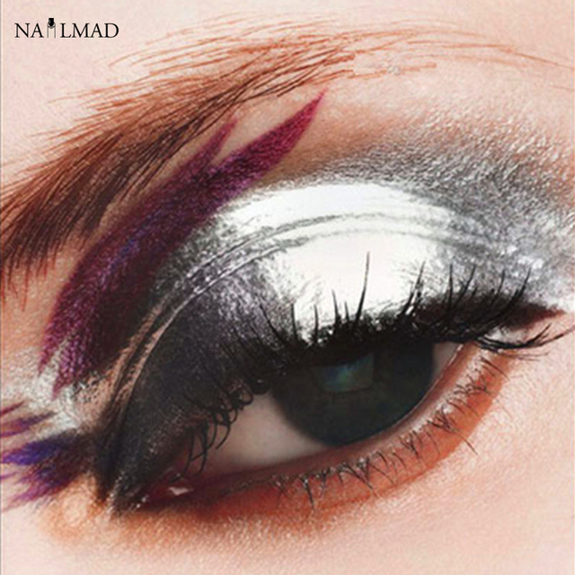10ml Aluminium Powder Silver Pigment Nail Glitter Powder Makeup Eye Shadow Powder Decoration for DIY silver nail polish
